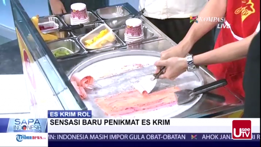 Hulala Ice Cream Roll Hadir di Acara Sapa Indonesia Kompas TV2