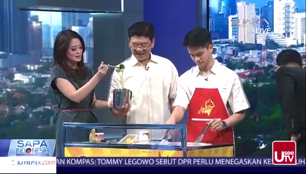 Hulala Ice Cream Roll Hadir di Acara Sapa Indonesia Kompas TV3
