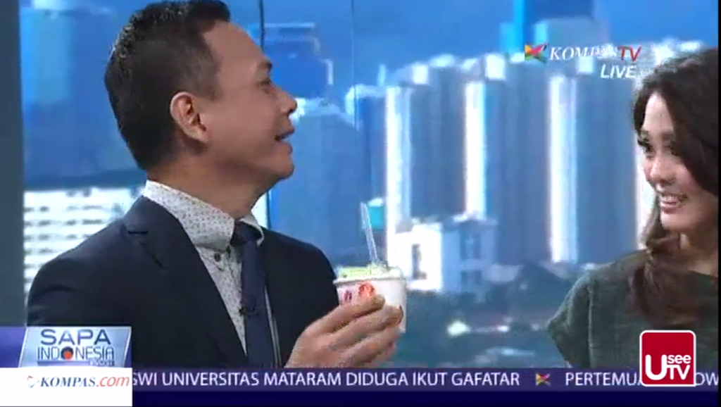 Hulala Ice Cream Roll Hadir di Acara Sapa Indonesia Kompas TV4