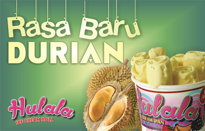 Hulala Ice Cream Roll Durian, Kelezatan Baru Franchise Es Krim Roll