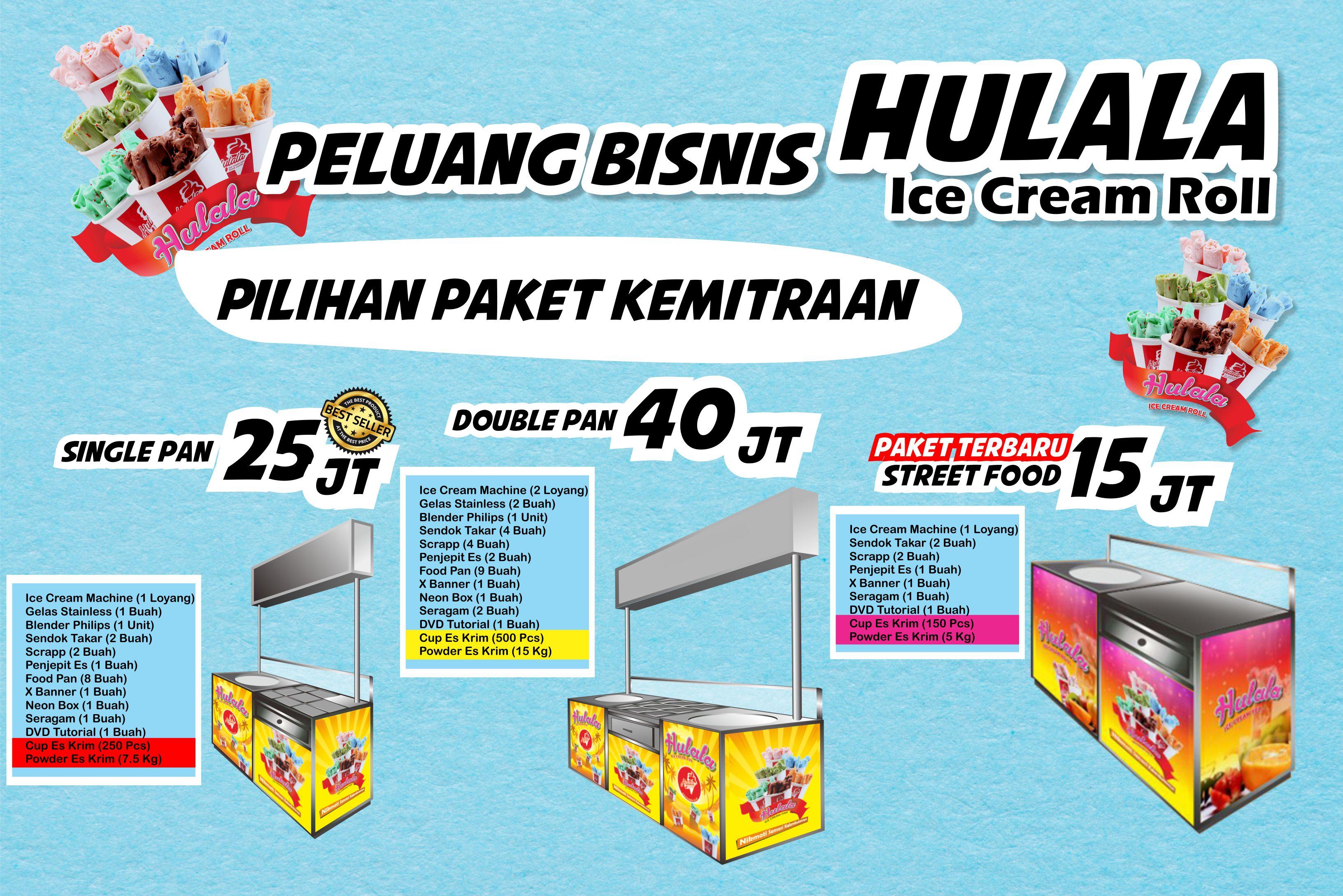 Paket  Hulala Ice Cream Rolls