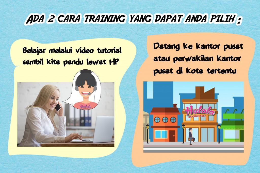 Training untuk Mitra Hulala Ice Cream Roll