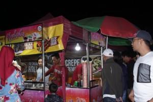 Hulala Ice Cream Roll di Festival Kuliner Magelang 2018