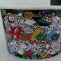 cup es krim hulala dengan doodle art